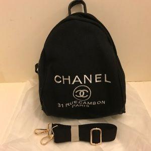 Authentic Chanel VIP gift Cross Body Bag black